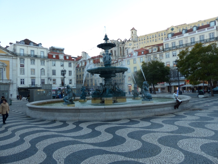 The square in the centre of Lisbon