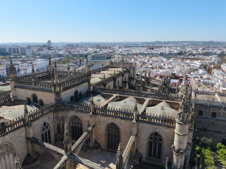 Looking down from the Giralda Tower