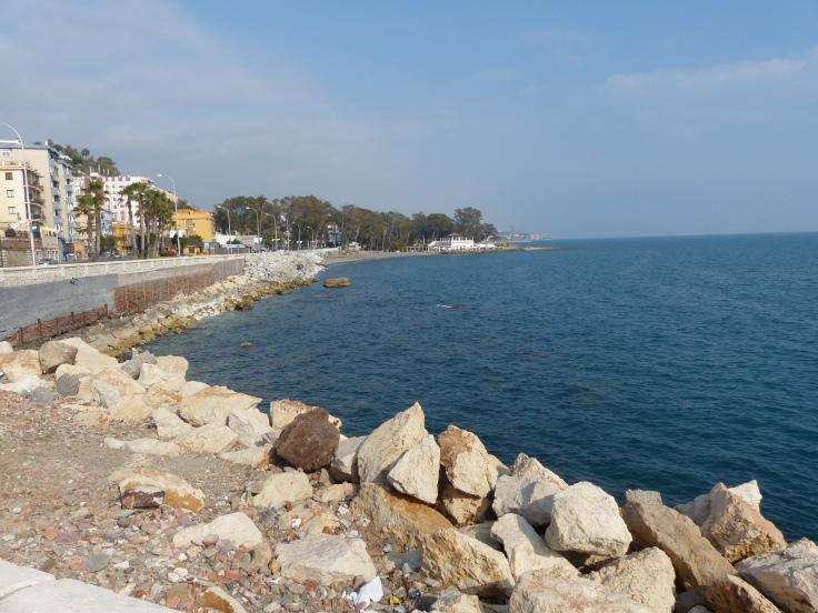 Arriving in Malaga