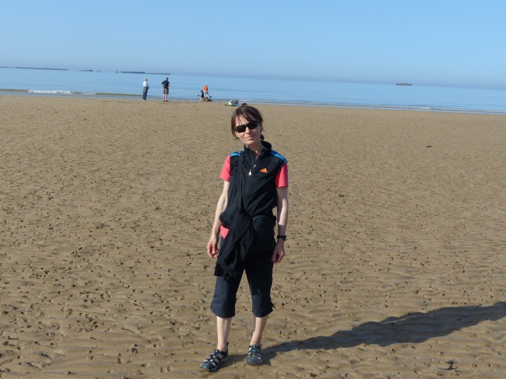 I'm walking on a Normandy beach!