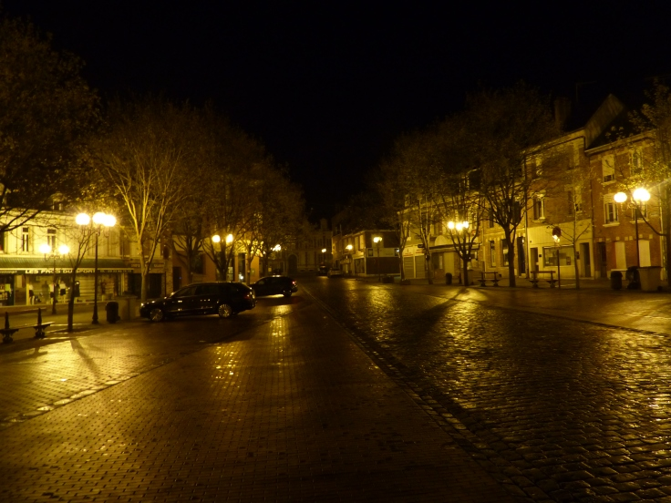 The pre-dawn streets of Peronne