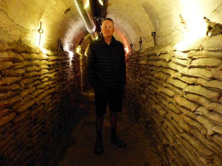 In the tunnels at the museum in Albert