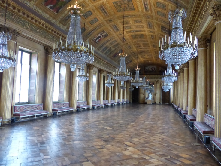 The ballroom. This room was used as a hospital during WWI