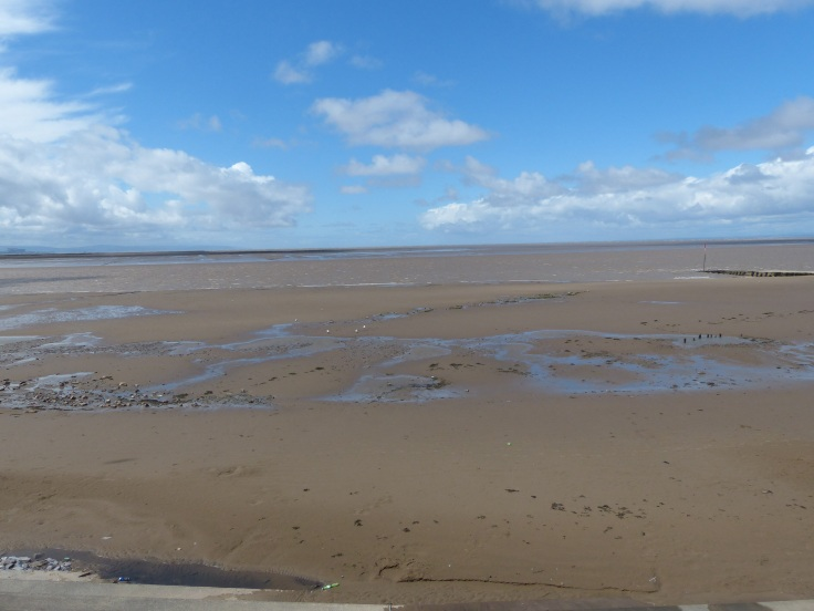 Burnham on Sea. Where does the sand stop and the sea start!?