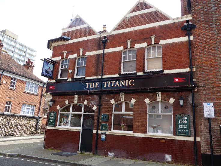 A pub in Southampton. This is the city where the Titanic left on her I'll fated voyage
