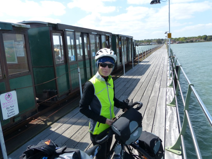 Arriving on Hythe pier