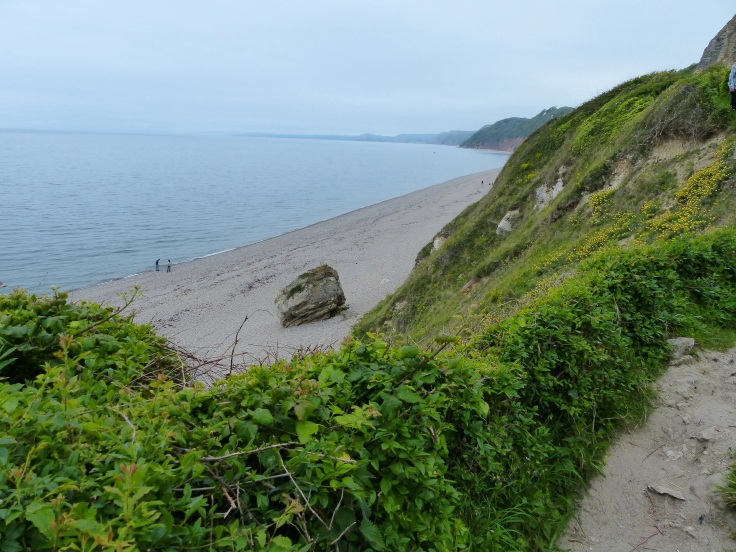 Nearly down to Branscombe beach