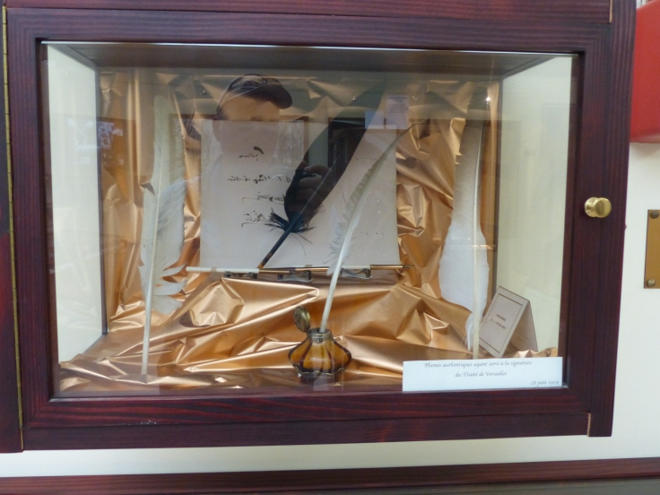 The quills used to sign the Treaty of Versaille