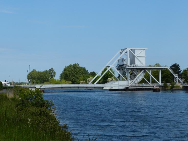 The famous Pegasus Bridge  in Caen