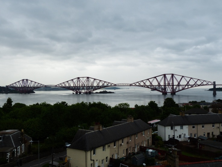 Looking across to the Forth Bridge - a cantilevered railway bridge