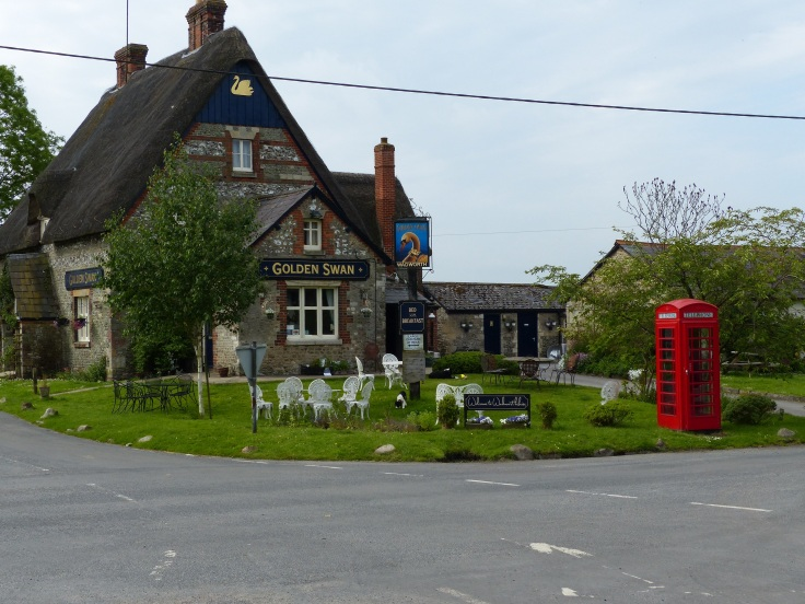 Our lovely little village pub in Wilcock, whose field we camped in.