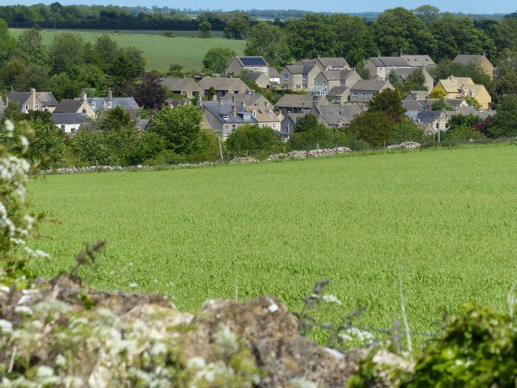 Looking down on Northleach
