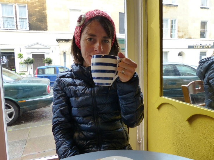 A nice big mug of tea in those blue and white stripes!
