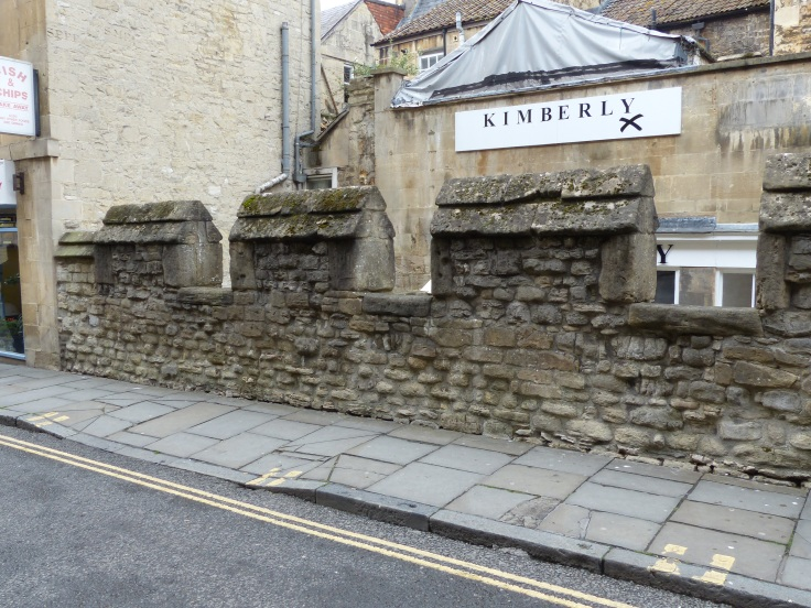 A remaining section of the original medieval city wall