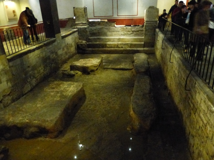 One of the pools where Romans would walk down the stone steps into the warm water and soak away their afflictions!