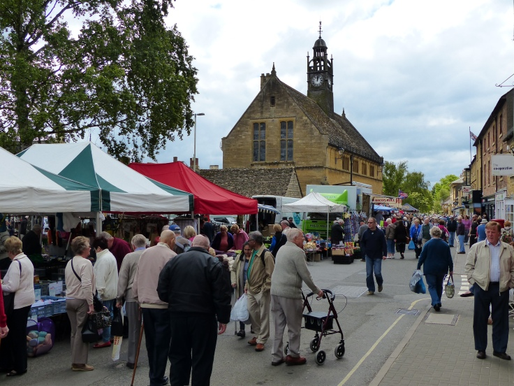 Market day in Moreton-on-Marsh