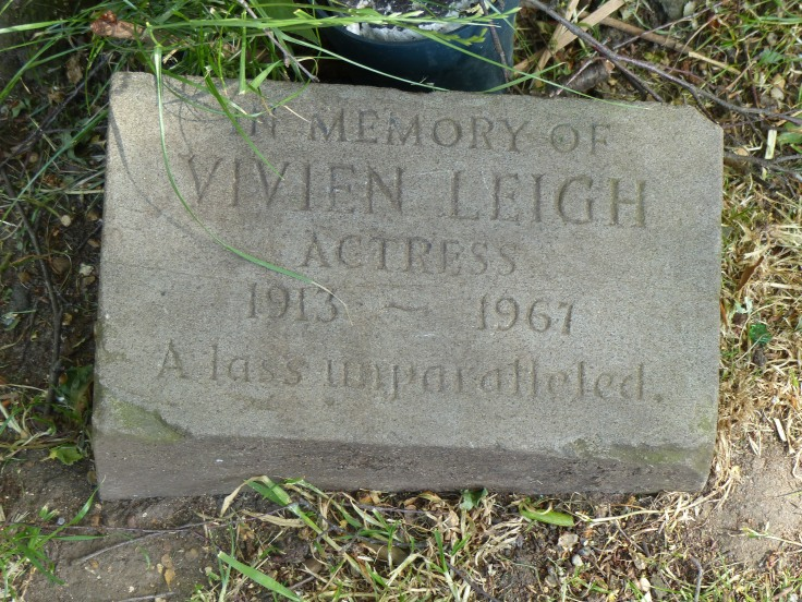 A plaque beside the river walk. I loved the words used to describe Vivian Leigh