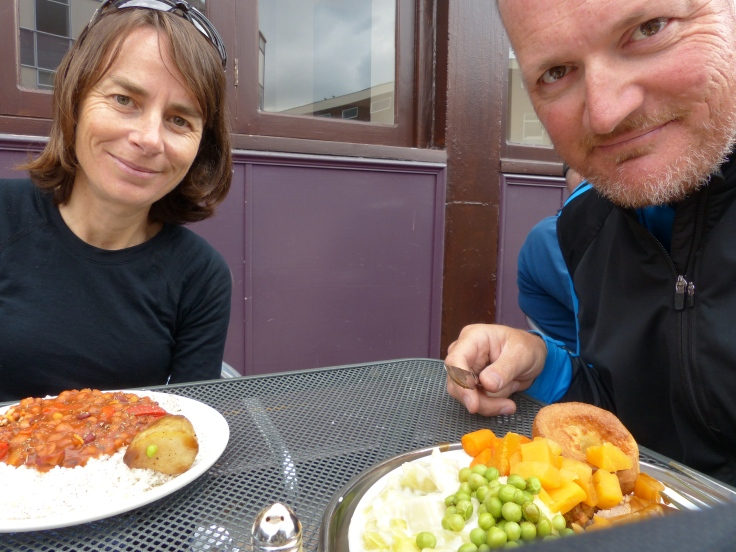 "Our ""traditional"" Sunday pub lunch with my ""special meal"""