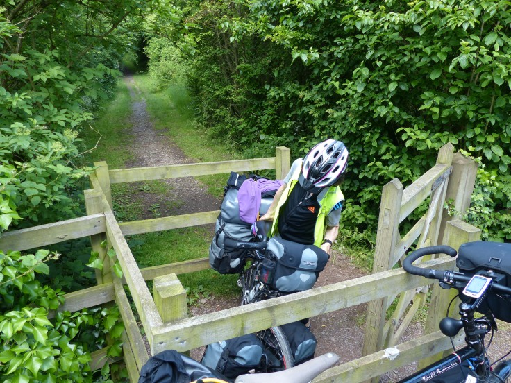 ...Humph! Lift the bike up to turn it around at get out of the way of the centre barrier...