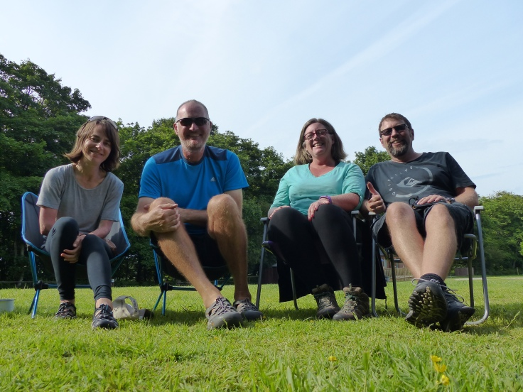 Our cycle tourists' support group!