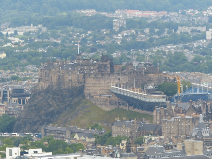 Looking across to Edinburgh Castle
