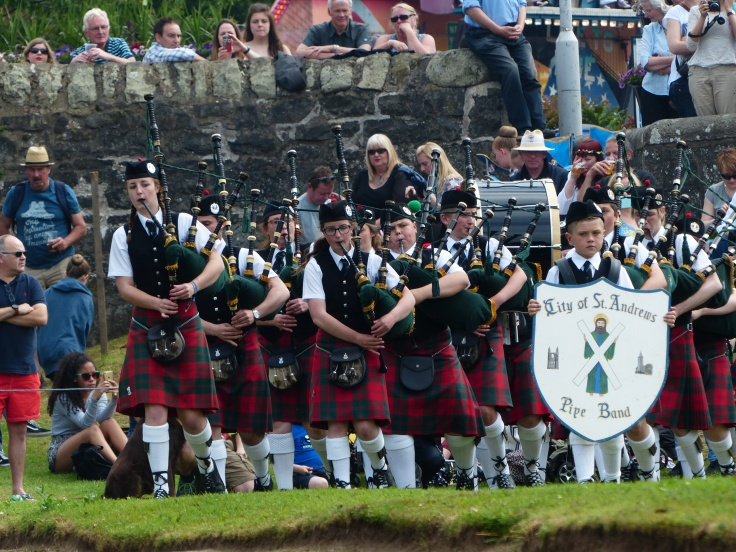 I also enjoyed watching the St Andrews Pipe band!