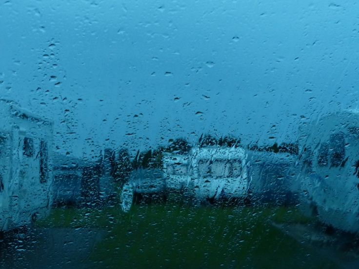 A very soggy start to the day...yet again!