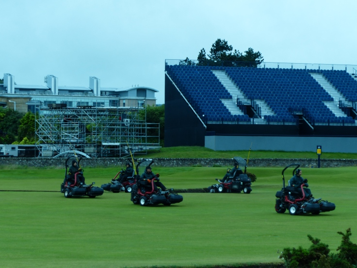 The waltz of the mowers - it was beautifully choreographed!