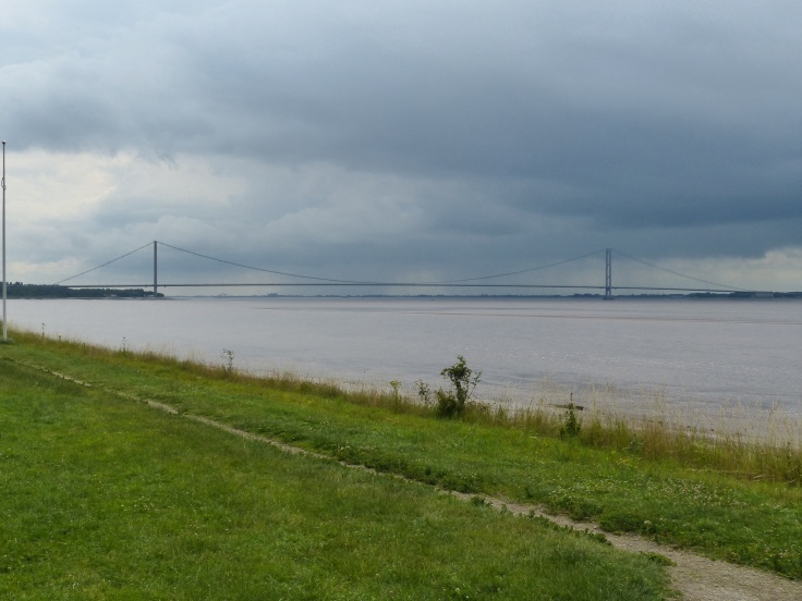 Approaching the Humber Bridge