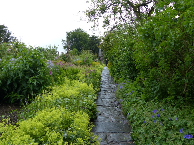 The path up to Beatrix Potter's house. This same image can be seen as an illustration in The Tale of Tom Kitten