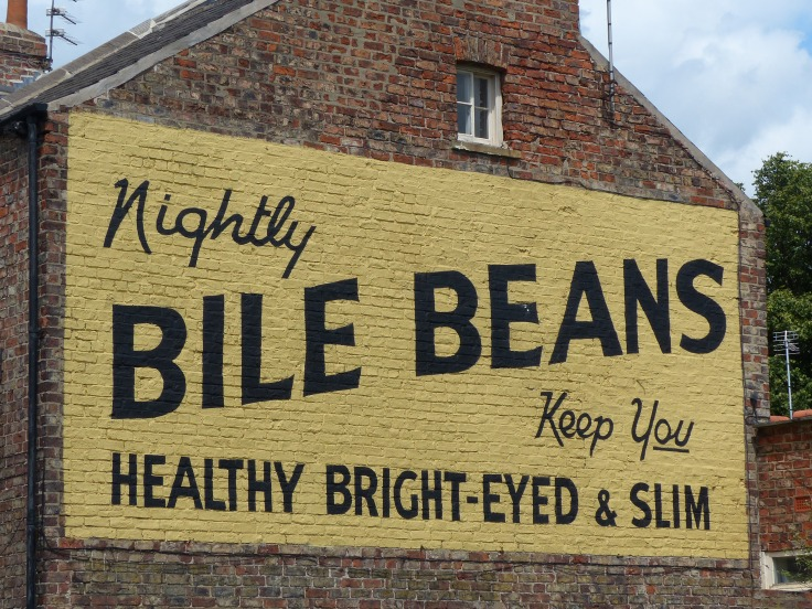 I don't know that I like the sound of Bile Beans, even if they would make me healthy, bright-eyed and slim!