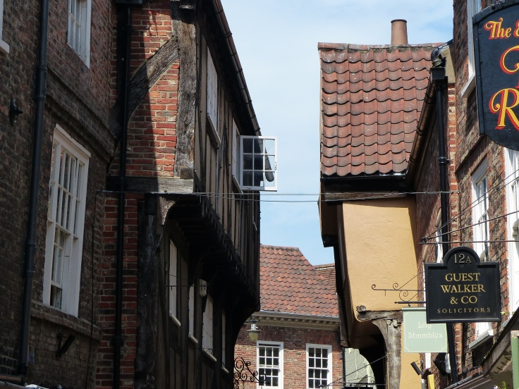 The buildings in The Shambles seem to lean in!