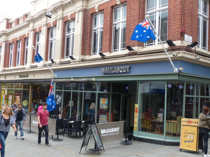 Fancy seeing Australian flags flying in Lincoln! This was a store called Walkabout