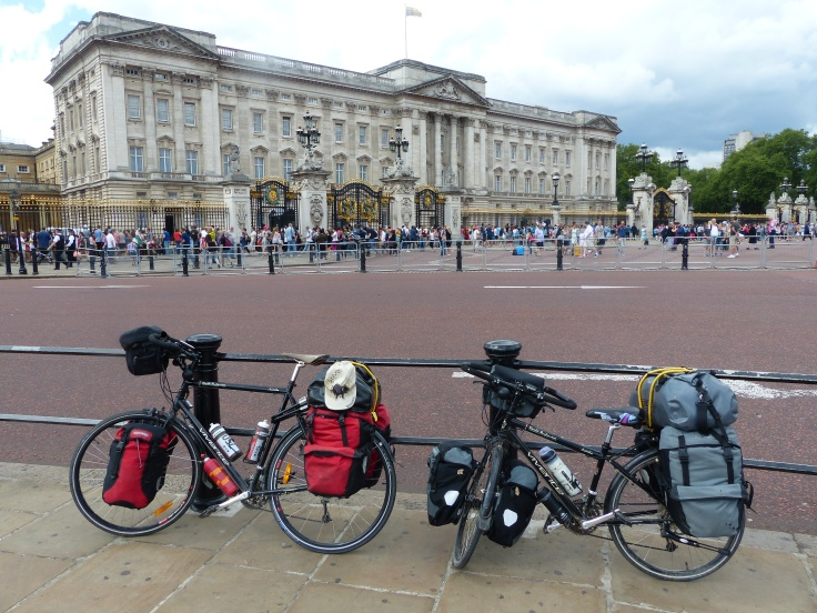 The bikes made it to Buck House...