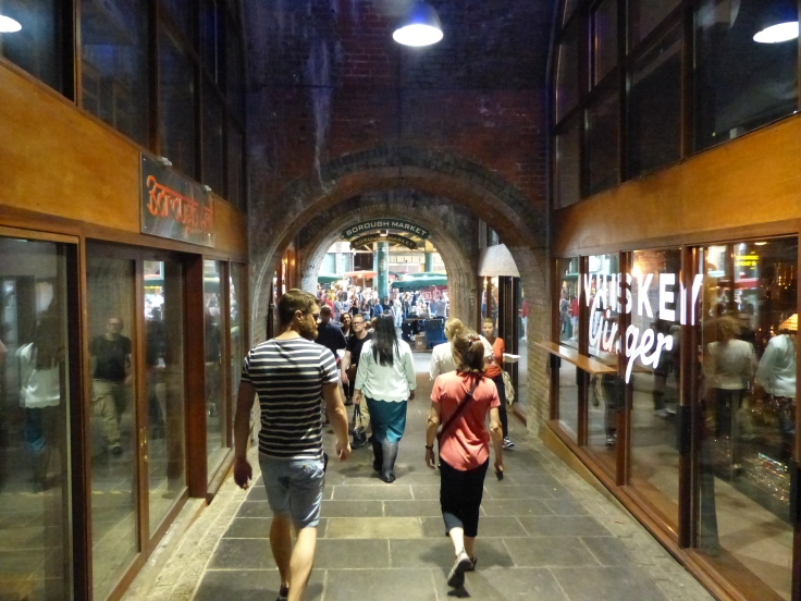 Heading into Borough Market. Tantalising aromas wafted up this tunnel!