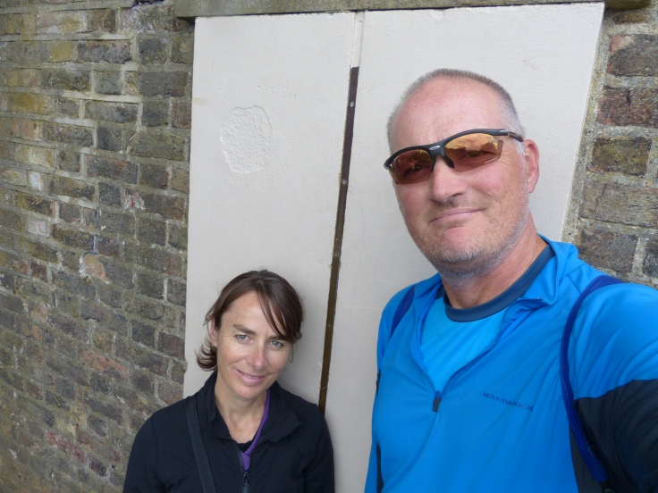 Standing on the meridian line
