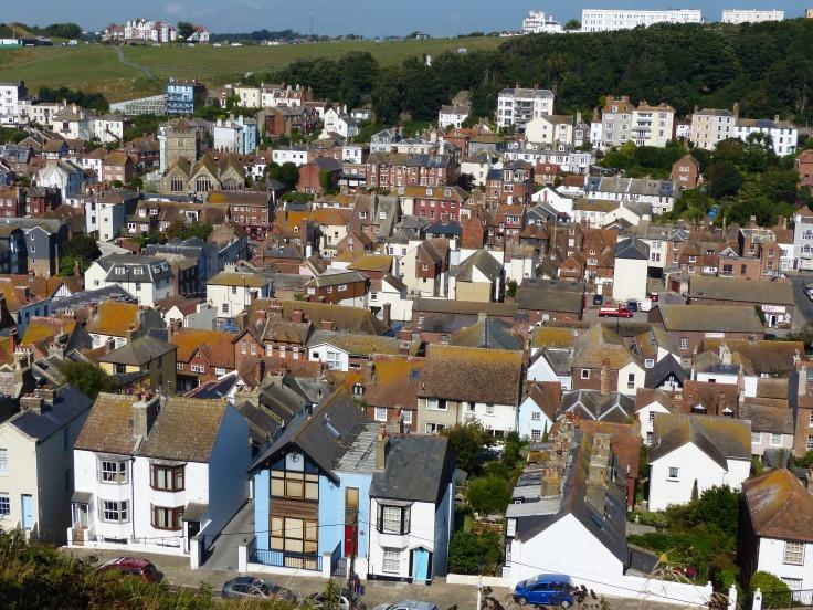 Looking down over Hastings