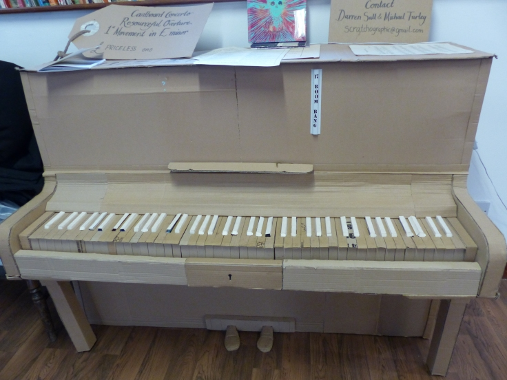 I loved the cardboard piano in the tearoom