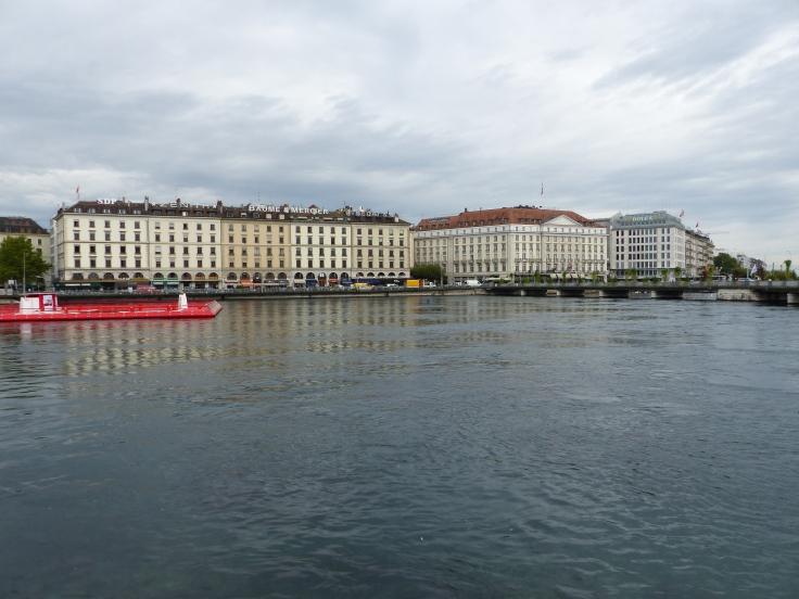 Looking across Lake Geneva