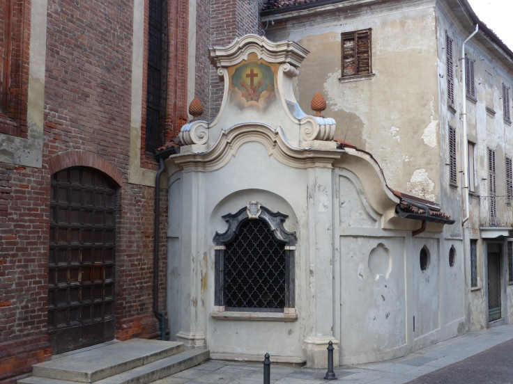 A small baroque chapel. Inside were the skulls of 17th century monks!