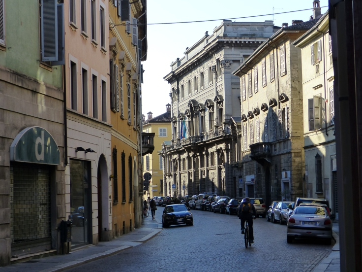 The streets of Piacenza