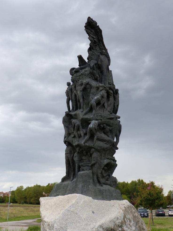 The memorial to Enzo Ferrari