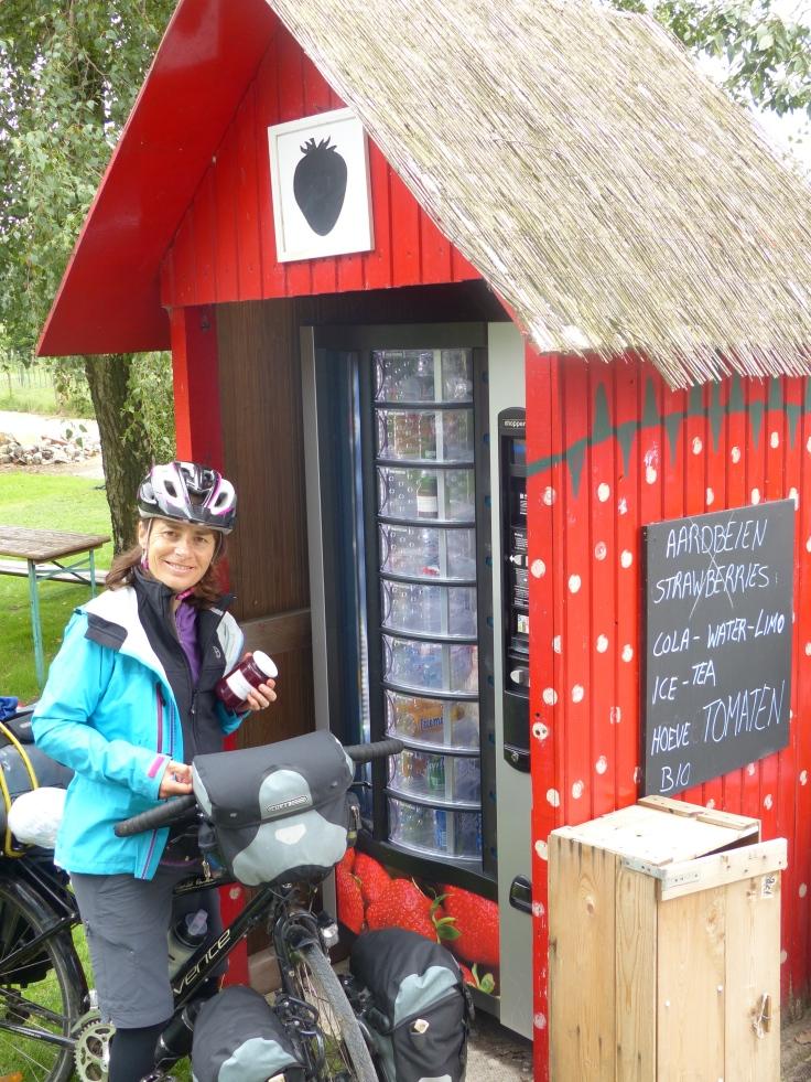 Homemade plum jam...love the roadside vending machines