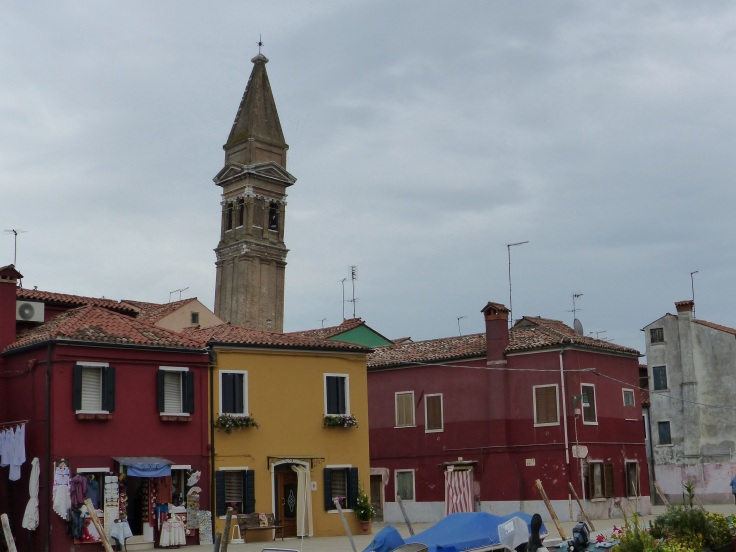 The leaning tower of Burano!