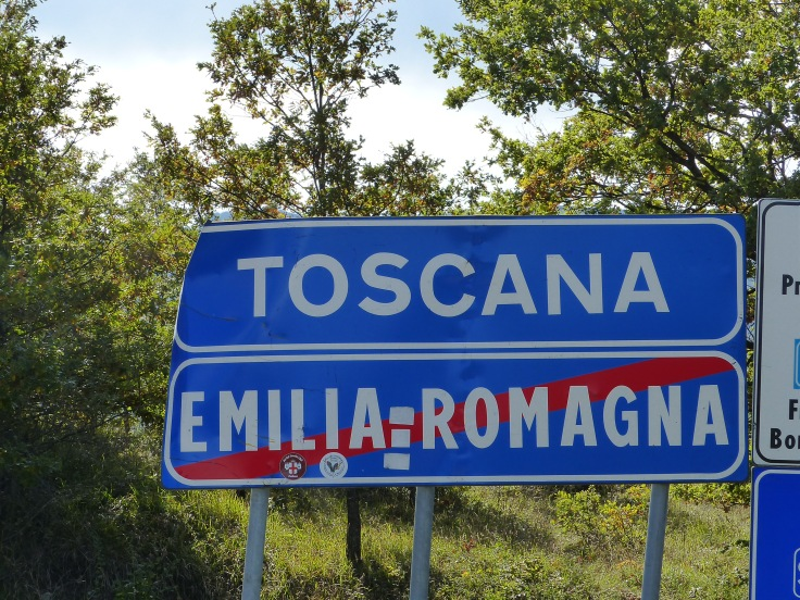 We crossed over into Tuscany