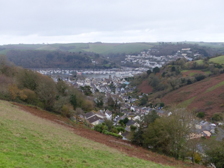 A speccy view of the town from half way up our first hill