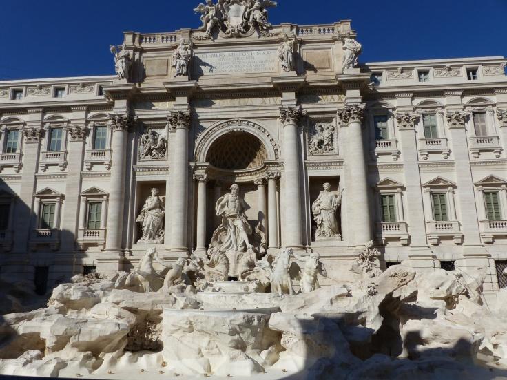 The Trevi Fountain, sans fountain!