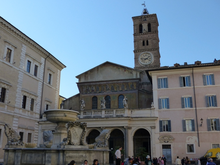 The Church of Santa Maria standing in the Piazza