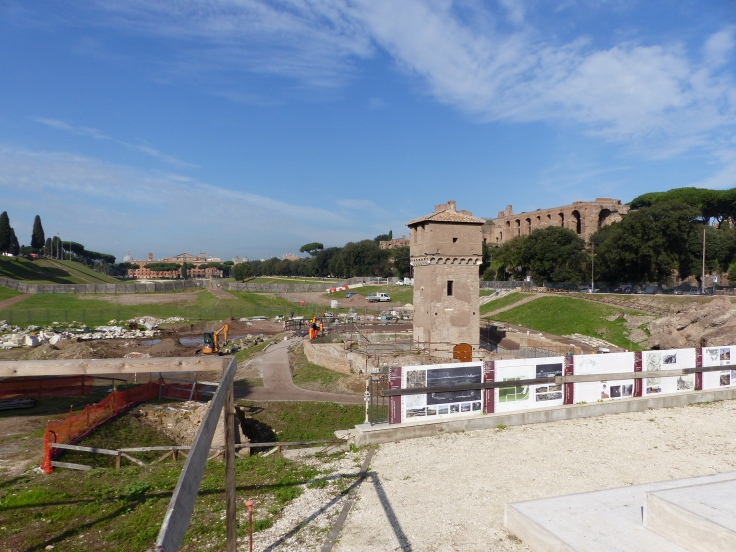 Our arrival at Circus Maximus...another darn fence!!