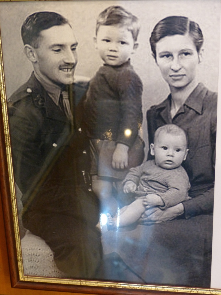 Lt. Eric Waters who died during the Battle of Anzio, with baby Roger, who would go on to be songwriter and bassist with Pink Floyd